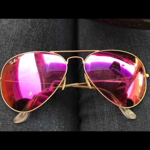 c1ce1aa2b6 Ray-Ban Accessories   Pink Rayban Womens Aviator Sunglasses   Poshmark